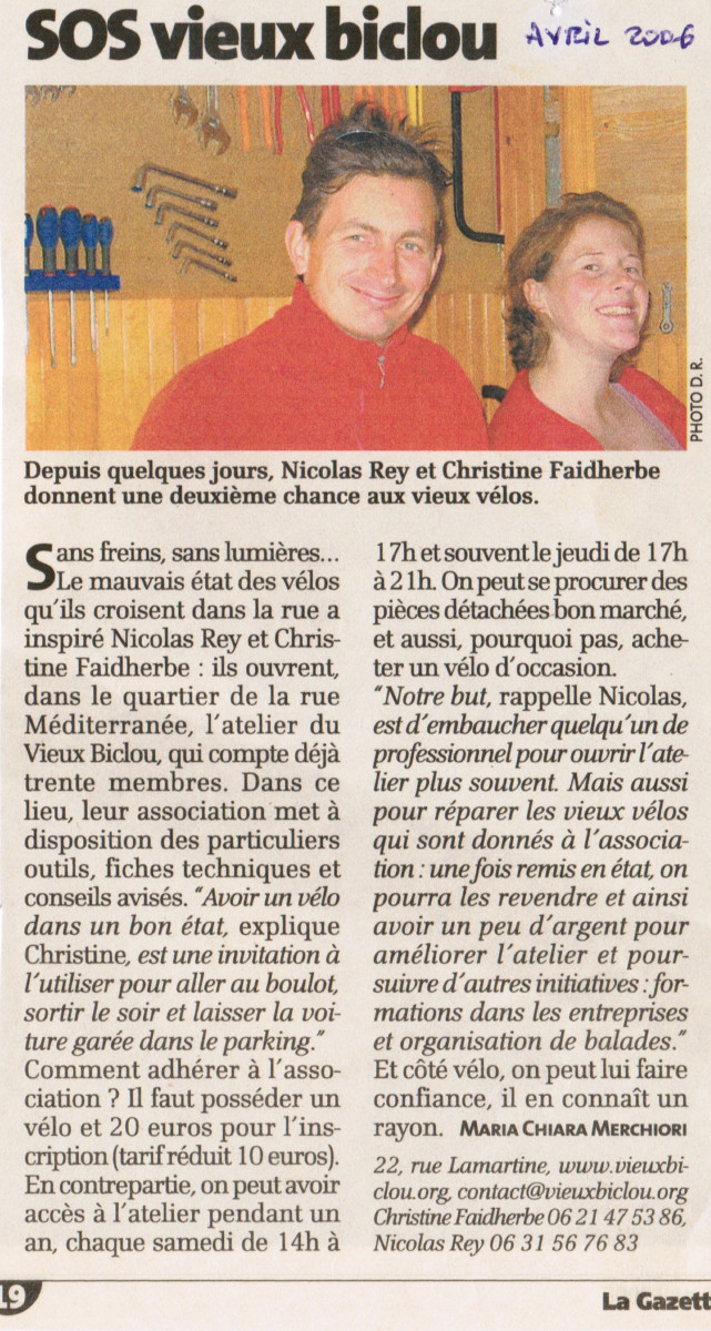 la gazette de mtp, atelier vb, avril 2006
